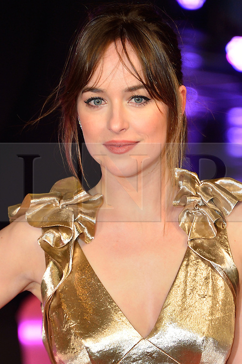&copy; Licensed to London News Pictures. 09/02/2016. London, UK. DAKOTA JOHNSON attends the UK film premiere of 'How To Be Single'.  The film is about a woman writing a book about bacherlorettes who becomes embroiled in an international affair while researching abroad<br /> Photo credit: Ray Tang/LNP