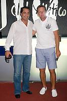"""LOS EX FUTBOLSITAS PAOLO FUTRE Y BERND SCHUSTER DURANTE LA PRESENTACION DEL PARTIDO BENEFICO """"GRACIAS"""" CON MOTIVO DE LAS JMJ 2011.11/08/2011.MADRID"""