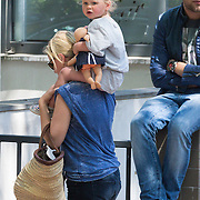 NLD/Amsterdam/20130607 - Caro Lenssen met kindje Noah