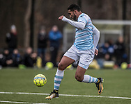 FODBOLD: Douglas Ferreira (FC Helsingør) under træningskampen mellem FC Helsingør og Falkenbergs FF den 20. januar 2018 på Snekkersten Idrætscenter. Foto: Claus Birch