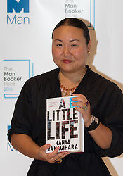 Royal Festival Hall, London, October 12th 2015. Man Booker Prize for Fiction Finalists gather at the Royal Festival Hall on the eve of the £50,000 prize winner's announcement. PICTURED: American writer Hanya Yanagihara author of A Little Life, published by Picador.