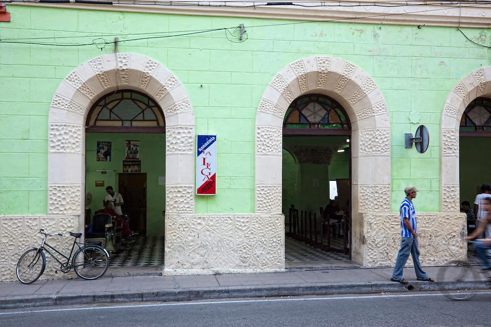 Barbershop in Camaguey city, Camaguey, Cuba.