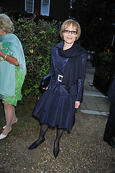 LADY GETTY at a Summer party hosted by Lady Annabel Goldsmith at her home Ormeley Lodge, Ham, Surrey on 14th July 2009.