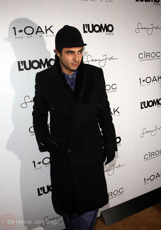 """Zac Posen pictured at the cocktail party celebrating Sean """"Diddy"""" Combs appearance on the """" Black on Black """" cover of L'Uomo Vogue's October Music Issue"""