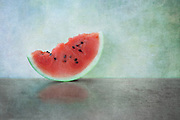 Inspired by the colors of summer and the beautiful shade of red of a watermelon. Watermelon with seeds will be a distant memory in the future and I wanted to capture how lovely the seeds are. It was truly a tradition growing up.