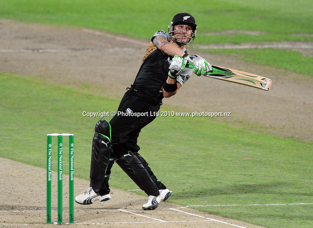 Brendon McCullum batting during his innings of 56 not out.<br />