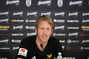 THESSALONIKI, GREECE - AUGUST 16: Graham Potter, head coach of Oestersunds FK during training ahead of the UEFA Europa League Qualifying Play-Offs round first leg match between PAOK Saloniki and &Ouml;stersunds FK at Toumba Stadium on August 16, 2017 in Thessaloniki, Greece. Foto: Nils Petter Nilsson/Ombrello<br /> ***BETALBILD***