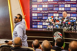 June 27, 2018 - Cairo, Egypt - Magdi Abdelghani, former footballer and member of the Egyptian Football Federation, speaks during the Egyptian Football Federation press conference after egyptian team leave world cup from group stage, Cairo, Egypt. June 27 2018. (Credit Image: © Islam Safwat/NurPhoto via ZUMA Press)