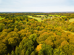 Autumn colours catch the hazy sunshine in Buckinghamshire near Burnham as autumn takes hold of the countryside. Buckinghamshire, October 07 2018.