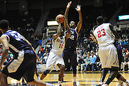 """Ole Miss Rebels guard Ladarius White (10) vs. TCU Horned Frogs guard Trey Zeigler (32) at the C.M. """"Tad"""" Smith Coliseum in Oxford, Miss. on Thursday, December 4, 2014. TCU won 66-54."""