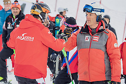 "29.01.2019, Planai, Schladming, AUT, FIS Weltcup Ski Alpin, Slalom, Herren, Streckenbesichtigung, im Bild Marcel Hirscher (AUT) mit Trainer // Marcel Hirscher of Austria with his Coach during course inspection for the men's Slalom ""the Nightrace"" of FIS ski alpine world cup at the Planai in Schladming, Austria on 2019/01/29. EXPA Pictures © 2019, PhotoCredit: EXPA/ Dominik Angerer"