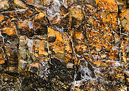 Beautiful colors and mosaic pattern in the rock.
