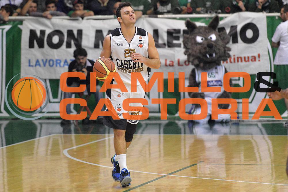 DESCRIZIONE : Avellino Lega A 2012-13 Sidigas Avellino Juve Caserta<br /> GIOCATORE : Stefano Gentile<br /> CATEGORIA : palleggio<br /> SQUADRA : Juve Caserta<br /> EVENTO : Campionato Lega A 2012-2013 <br /> GARA : Sidigas Avellino Juve Caserta<br /> DATA : 30/12/2012<br /> SPORT : Pallacanestro <br /> AUTORE : Agenzia Ciamillo-Castoria/GiulioCiamillo<br /> Galleria : Lega Basket A 2012-2013  <br /> Fotonotizia : Avellino Lega A 2012-13 Sidigas Avellino Juve Caserta<br /> Predefinita :
