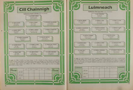All Ireland Senior Hurling Championship - Final,.02.09.1984, 09.02.1984, 2nd September 1984,.Cork 3-16, Offaly 1-12,.02091984AISHCF,.Senior Cork v Offaly, .Minor Kilkenny v Limerick,..Kilkenny, Alan McCormack, James Stephen's, Willie Dwyer, Carrickshock, Bosco Bryan, John Locke's, Frankie Morgan, James Stephen's, Larry O'Brien, Slieverue, Tom Lennon captain, Bennettsbridge, Paddy Fennelly, Danesfort, Gerry Drennan, Galmoy, Declan Mullen, James Stephen's, Liam Egan, John Locke's Jim Farrell, St Martin's, Pat McEvoy, Mullinavat, John Power, John Locke's, Billy Cleere, Bennetsbridge, Liam Dowling, St Martin's, subs, Tom Phelan, Fenians, Paul Phelan, Shamrock's, Tony Byrne, Young Irelands, Walter Purcell, Windgap, BIlly Ayres, James Stephen's, Timmy Queally, Emeralds, Eamonn Morrissey, St Martin's, Micheal Frisby, Slieverue, Tommy Buggy, Erin's Own, Jim Walsh, Piltown, ..Limerick, Val Marnane, Caherlane, Anthony Madden, Bruff, Patrick Carey, Patrickswell, Don Flynn, Killeedy, Ger Hegarty, Old Christians, Anthony Riordan captain, Bruff, Andy Cunneen, Claughaun, Anthony Carmody, Patrickswell, Michael Reale, Bruff, Tony Byrnes, Old Christians, Barry Kirby, Patrickswell, Gus Ryan, Claughaun, John O'Neill, Kilfinnan, Pat Davern, Ballybrown, Brian Stapleton, Garryspillane, subs, Leo Connor, Claughan, James Galvin, Feonagh Kilmeedy, John Fitzgerald, Claughaun, Michael O'Brien, Glenroe, Declan Nash, South Liberties, Colm Coughlan, Ballybrown, Pat Donnelly, South Liberties,  Declan Marren, Adare, John Bresnihan, Castletown, Ballygran,