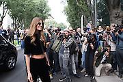 Bianca Brandolini D'Adda, Italian socialite, arrives at Armani theatre where takes place Armani fashion show during annual Milan Fashion Week, Milan 23 Sept. 2016. © Carlo Cerchioli