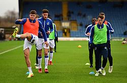 Tom Broadbent of Bristol Rovers warms up with Ollie Clarke of Bristol Rovers - Mandatory by-line: Alex James/JMP - 10/02/2018 - FOOTBALL - Kassam Stadium - Oxford, England - Oxford United v Bristol Rovers - Sky Bet League One