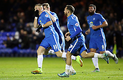 Marcus Maddison of Peterborough United (number 11) celebrates scoring his goal making it 3-1 - Mandatory byline: Joe Dent/JMP - 24/11/2015 - FOOTBALL - ABAX Stadium - Peterborough, England - Peterborough United v Barnsley - Sky Bet League One