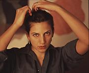 Melissa in the studio