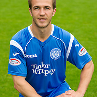 St Johnstone Photocall, Season 2010-11<br /> Chris Millar<br /> Picture by Graeme Hart.<br /> Copyright Perthshire Picture Agency<br /> Tel: 01738 623350  Mobile: 07990 594431