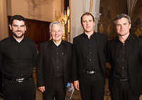 Midsummer Melodies, a concert of choral music with Marine Institute singers, SSE Airs which took  place in the Augustinian Church Galway . Proceeds to COPE Galway . At the event were James Fahy, Francis O'Beirn, Paul Gaughan and Glenn Nolan. Photo:Andrew Downes, xposure.