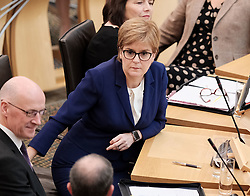 First Minister's Questions in the Scottish Parliament<br /> <br /> Thursday, 19th September 2019<br /> <br /> Pictured: First Minister Nicola Sturgeon MSP<br /> <br /> Alex Todd | Edinburgh Elite media
