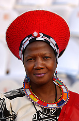 PRETORIA, SOUTH AFRICA - APRIL-27-2004 - African women dressed in traditional clothes at the inauguration ceremony for South African President Thabo Mbeki , which marks the 10th Anniversary of the fall of Apartheid in South Africa.