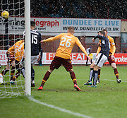 Dundee&rsquo;s Rory Loy ties a shot off the underside of the crossbar - Dundee v Motherwell, Ladbrokes Premiership at Dens Park <br /> <br />  - &copy; David Young - www.davidyoungphoto.co.uk - email: davidyoungphoto@gmail.com