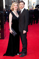 © Licensed to London News Pictures. 15/04/2012.James McAvoy & Anne-Marie Duff 2012 Olivier Awards Arrivals At The Royal Opera House, London, UK.  Photo credit : Richard Hurn / LNP