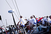Bella Mente sailing at the start of the 2010 Newport Bermuda Race in Newport, Rhode Island.