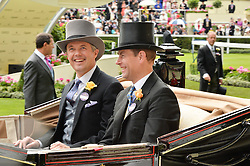 Left to right,  The CROWN PRINCE OF DENMARK and HRH The EARL OF WESSEX at day two of the Royal Ascot 2016 Racing Festival at Ascot Racecourse, Berkshire on 15th June 2016.