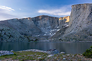 Sunrise over  Lost Twin Lakes, Big Horn National Forest, Ten Sleep, Wyoming.