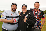 Sir Peter Leitch, the Mad Butcher with fans, The Vodafone Warriors members' Christmas party held at Ellerslie Racecourse on Sunday December 13, 2015. Photo: David Mackay / www.photosport.nz