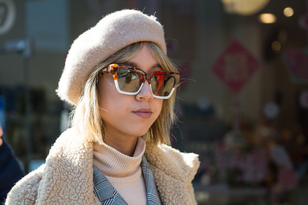 Beret and Sunglasses, Outside Collina Strada FW2018