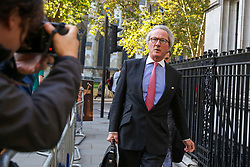 © Licensed to London News Pictures. 19/09/2019. London, UK. RICHARD KEEN QC - British lawyer and Conservative Party politician arrives at UK Supreme Court in London on the final day of the three day appeal hearing in the multiple legal challenges against the Prime Minister Boris Johnson's decision to prorogue Parliament ahead of a Queen's speech on 14 October. Since Tuesday 17 September, eleven instead of the usual nine Supreme Court justices have been hearing the politically charged claim that Boris Johnson acted unlawfully in advising the Queen to suspend parliament for five weeks in order to stifle debate over the Brexit crisis. It is the first time the Supreme Court has been summoned for an emergency hearing outside legal term time. Lady Hale, the first female president of the court who retires next January, has been preside the Brexit-related judicial review cases. Photo credit: Dinendra Haria/LNP