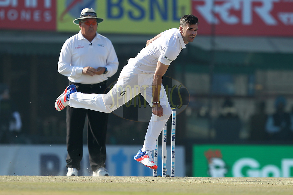 James Anderson of England bowls during day 3 of the third test match between India and England held at the Punjab Cricket Association IS Bindra Stadium, Mohali on the 28th November 2016.Photo by: Prashant Bhoot/ BCCI/ SPORTZPICS