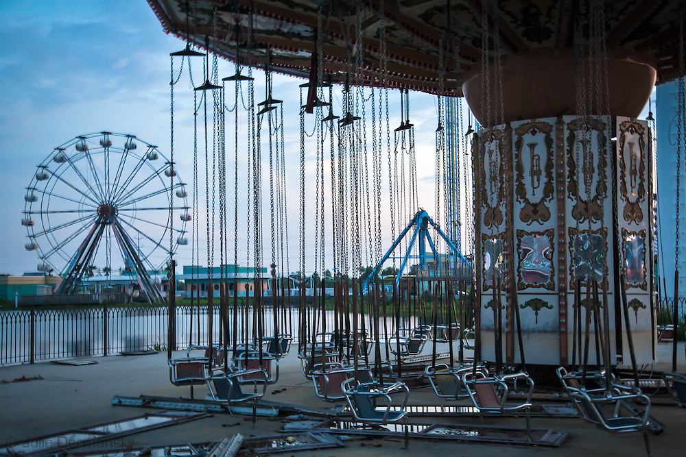 August, 24, 2008, Rides at Six Flags Amusement Park in Eastern New Orleans, destroyed by Hurricane Katrina.