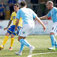 Forfar v St Johnstone….27.07.19      Station Park     Betfred Cup       <br />Danny Swanson is surrounded by Darren Whyte, Gary Irvine and Callum Tapping<br />Picture by Graeme Hart. <br />Copyright Perthshire Picture Agency<br />Tel: 01738 623350  Mobile: 07990 594431