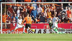 Dundee United&rsquo;s Billy McKay (7) scoring their goal. <br /> Half time : Dundee United 1 v 0 Inverness Caledonian Thistle, SPFL Ladbrokes Premiership game played 19/9/2015 at Tannadice.