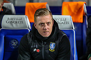 Sheffield Wednesday Manager Garry Monk during the The FA Cup match between Queens Park Rangers and Sheffield Wednesday at the Kiyan Prince Foundation Stadium, London, England on 24 January 2020.