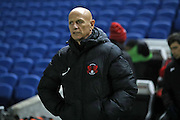 Leyton Orient manager Alberto Cavasin during the EFL Trophy Southern Group G match between U23 Brighton and Hove Albion and Leyton Orient at the American Express Community Stadium, Brighton and Hove, England on 8 November 2016.
