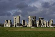 Horseshoe of Sarsen Trilithons, circle of Sarsen stones with lintels, Stonehenge, Neolithic and Bronze Age megalithic monument, 3050 - 1500 BC, Salisbury, Wiltshire, England, UK. Picture by Manuel Cohen