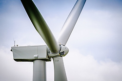 Close up detail of a Wind Turbine in South Lanarkshire, Scotland<br /> <br /> (c) Andrew Wilson | Edinburgh Elite media