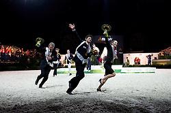 Lap of Honour Vaulting Pas de Deux - Pas de Deux Vaulting Round 2 - Alltech FEI World Equestrian Games™ 2014 - Normandy, France.<br /> © Hippo Foto Team - Jon Stroud<br /> 05/09/2014