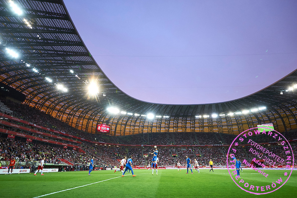 General view during international friendly soccer match between Poland and Greece at PGE Arena Stadium on June 16, 2015 in Gdansk, Poland.<br /> Poland, Gdansk, June 16, 2015<br /> <br /> Picture also available in RAW (NEF) or TIFF format on special request.<br /> <br /> For editorial use only. Any commercial or promotional use requires permission.<br /> <br /> Adam Nurkiewicz declares that he has no rights to the image of people at the photographs of his authorship.<br /> <br /> Mandatory credit:<br /> Photo by &copy; Adam Nurkiewicz / Mediasport