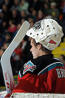 KELOWNA, CANADA, OCTOBER 29:  Kamloops Blazers visit the Kelowna Rockets  on October 29, 2011 at Prospera Place in Kelowna, British Columbia, Canada (Photo by Marissa Baecker/Shoot the Breeze) *** Local Caption ***