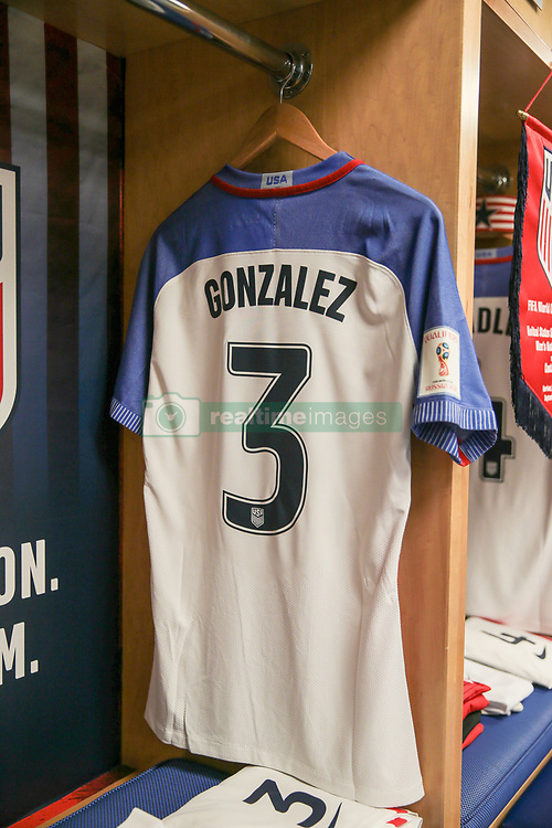 September 1, 2017 - Harrison, NJ, USA - Harrison, N.J. - Friday September 01, 2017: Omar Gonzalez during a 2017 FIFA World Cup Qualifying (WCQ) round match between the men's national teams of the United States (USA) and Costa Rica (CRC) at Red Bull Arena. (Credit Image: © John Dorton/ISIPhotos via ZUMA Wire)