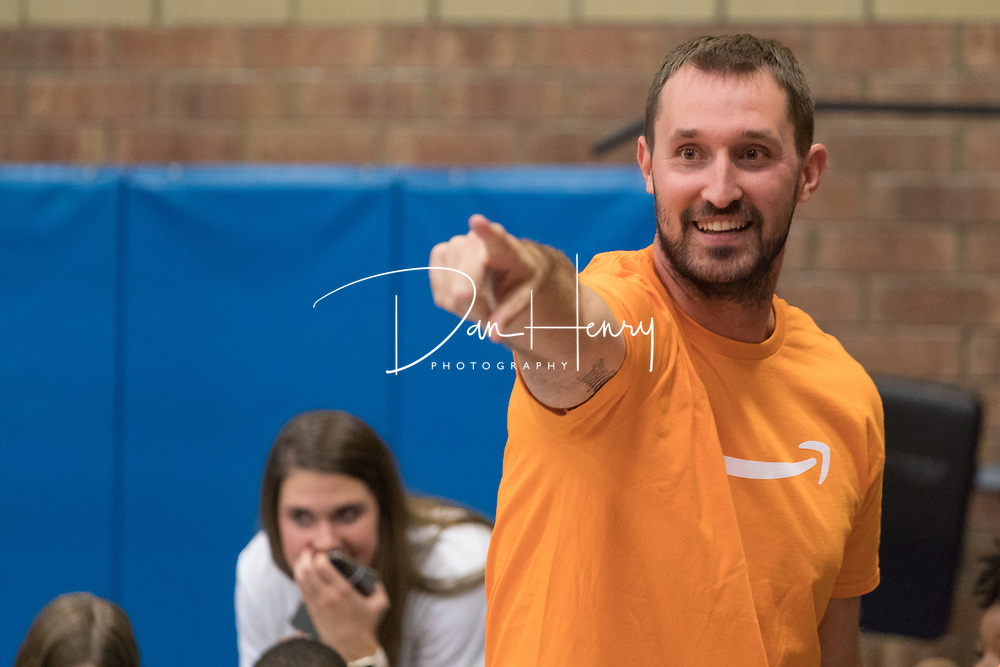 Members of Amazon BNA3 join MTSU athletes to host a Child Health Day at the Boys & Girls Club of Rutherford County on October 2, 2017. Photo © Dan Henry / DanHenryPhotography.com