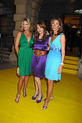 Left to right, PRISCILLA PHILLIPS, EMILY OPPENHEIMER-TURNER and HEATHER KERZNER at the Royal Academy of Arts Summer Exhibition Party at the Royal Academy, Piccadilly, London on 6th June 2007.<br />