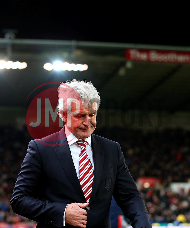 Stoke City manager Mark Hughes heads for the tunnel looking dejected at half time - Mandatory by-line: Matt McNulty/JMP - 01/02/2017 - FOOTBALL - Bet365 Stadium - Stoke-on-Trent, England - Stoke City v Everton - Premier League
