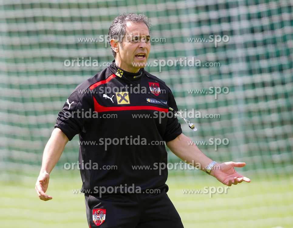 25.05.2012, Sportzentrum, Seefeld, AUT, Trainingslager, Oesterreich, im Bild Cheftriner Marcel Koller (SUI) // austrians headcoach Marcel Koller during practice session of Austrian National Footballteam at Sportzentrum, Seefeld, Austria on 2012/05/25. EXPA Pictures © 2012, PhotoCredit: EXPA/ Johann Groder
